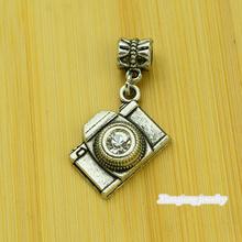 Free shipping!  25pcs  Camera  Tibetan silver big hole pendant fit Pandora charm bracelet DIY pendant. XQ0076