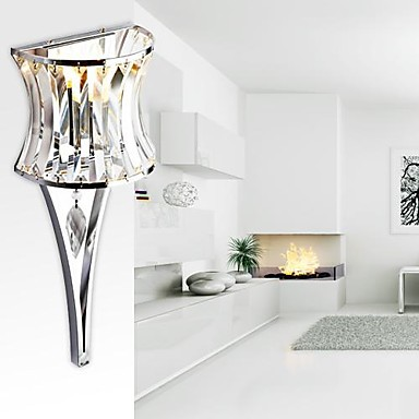 Stainless Steel Plating Modern LED Crystal Wall Lamp Light For Home Lighting Wall Sconce Lampara Pared(China (Mainland))