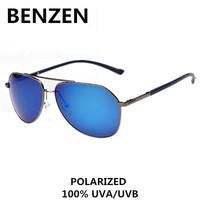 2015  Men Sunglasses Polarized UV 400 TR90 Pilot Driving Glasses Sun Glasses For Men Oculos De Sol Masculino With Case 9022