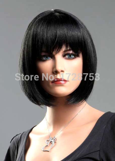 oo2EE@@Ladies Short Wig Black Wig Wedge Fashion Wigl Cosplay wig(China (Mainland))