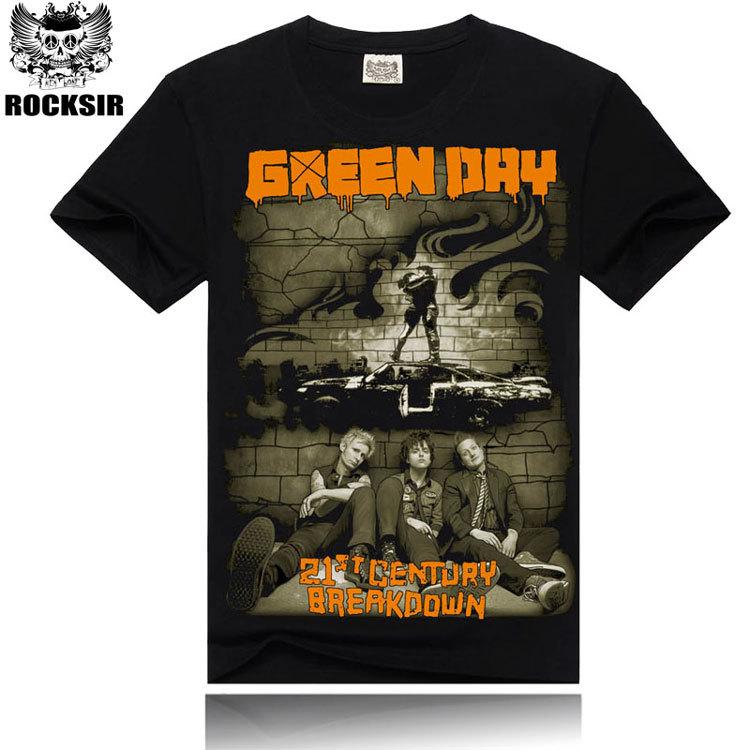2015 men's fashion new style t shirt,100% cotton tshirt men,Green Day 3D printed tshirts man,hot sale t-shirt men!16038(China (Mainland))