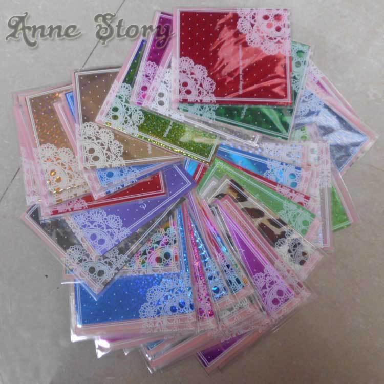 50 Sheets Mix Random Color Design Tip Nail Art Nail Sticker Nail Decal Manicure Transfer Nail Art Foils(China (Mainland))