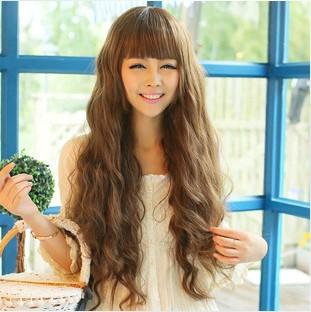 Wig girls corn perm hair fluffy Qi Liu Haichang pear type realistic wig and a generation of fat(China (Mainland))