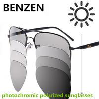 2015 Men Sunglasses Photochromic Polarized Sunglasses Driving Glasses Sun Glasses Male Oculos De Sol Masculino With Case 9021