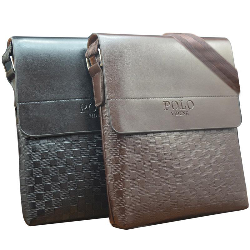 New 2015 fashion men bags, polo videng men casual leather squares messenger bag,high quality man brand small crossbody bag(China (Mainland))