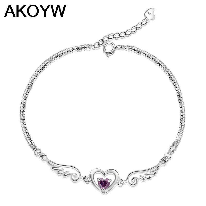 S925 sterling silver bracelet bracelet female models female models Korean version hand jewelry love bracelet(China (Mainland))