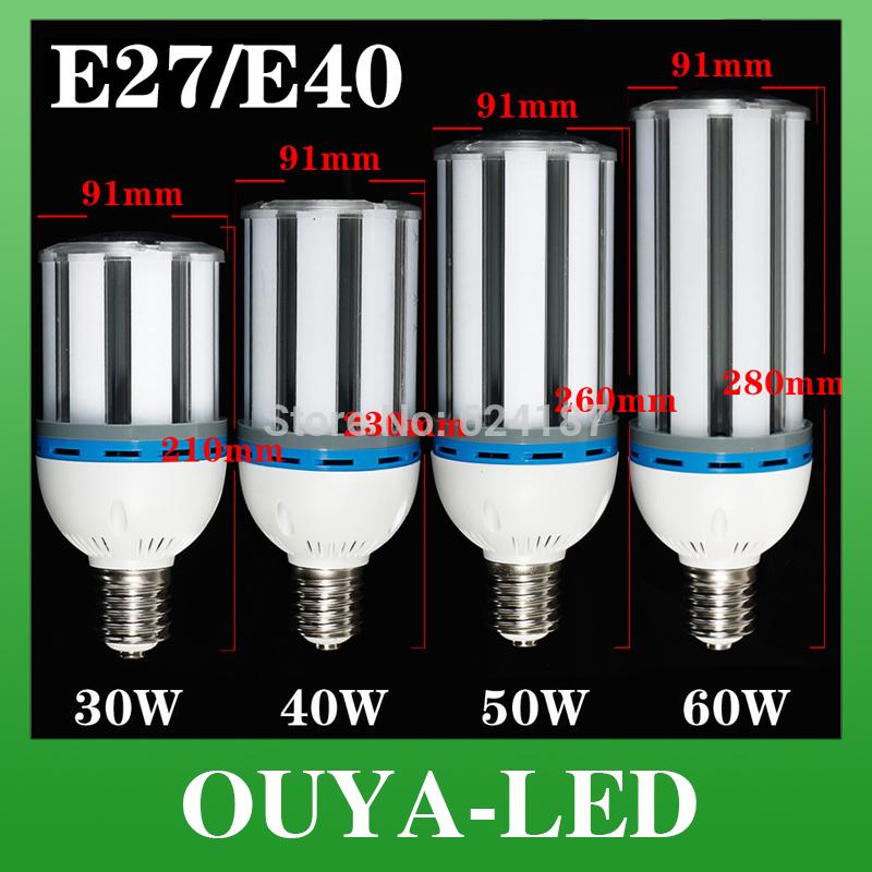 E27/E40 30W/40W/50W/60W LED Light Bulb Lamp 85 Cylinde 5630 SMD Cool White/Warm White Super Brightness Energy Saving Corn Light(China (Mainland))