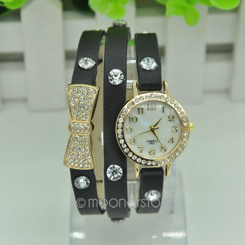 OEM 2015 PU Bowknot J * 60cmpJ737a1 #C6 Bracelet Watches oem 2015 j 60cmhm385 gold watches