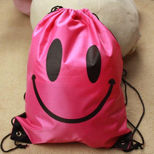 2015 new hot kids Waterproof School boys girls Drawstring Book Bag Sport Gym Swim PE Dance Shoe Backpack Wholesale dropsipping(China (Mainland))