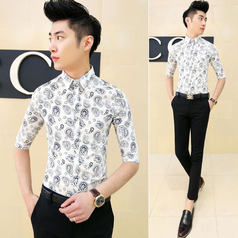 Мужская повседневная рубашка China's famous brand 2015  M-XL рубашка almost famous рубашка