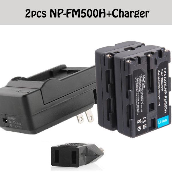 Camera Battery NP-FM500H NP FM500H batteria + Charger for Sony A200 A350 A300 A550 A350 A850 A560 A580 A700K DSLR SLT-A57 a58(China (Mainland))