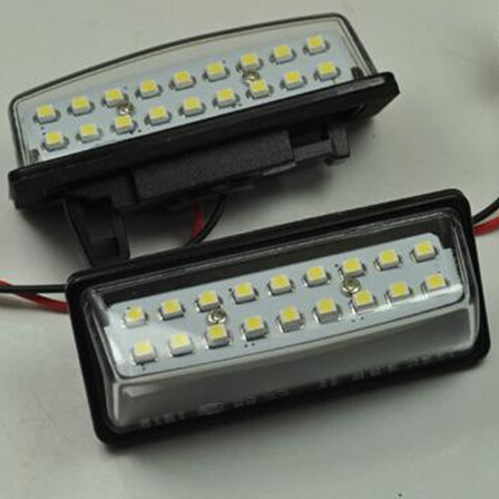New Product 12V 2Pcs 6000K Car Styling Accessory LED Number License Registration Plate Lights Upgrade For Cefiro Maxima TEANA(China (Mainland))