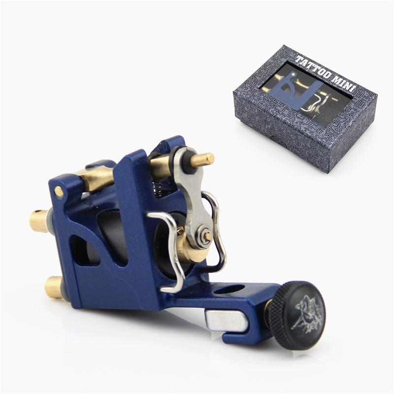 Blue Pro Alu Alloy Mini Motor Rotary Tattoo Machine Gun Brass Bar Liner Shader(China (Mainland))
