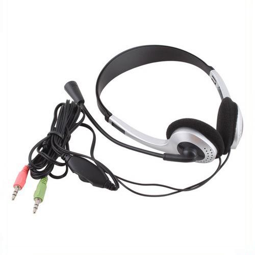Earphone Headphone w/ Microphone MIC VOIP Headset Skype for PC Computer Laptop(China (Mainland))