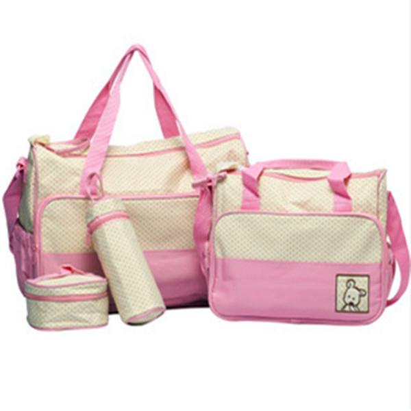 New 5pcs Baby Nappy Changing Bag Set Diaper Bag(China (Mainland))