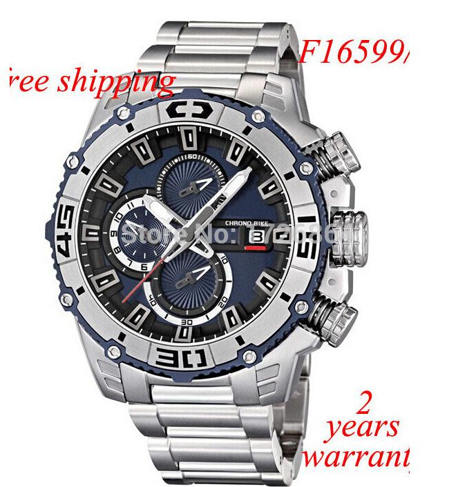Free Shipping New FE F16599/2 Men's Quartz Watch Tour De France 2014 Dark Blue Dial Silver S.Steel Band Chrono Bike Chronograph(China (Mainland))