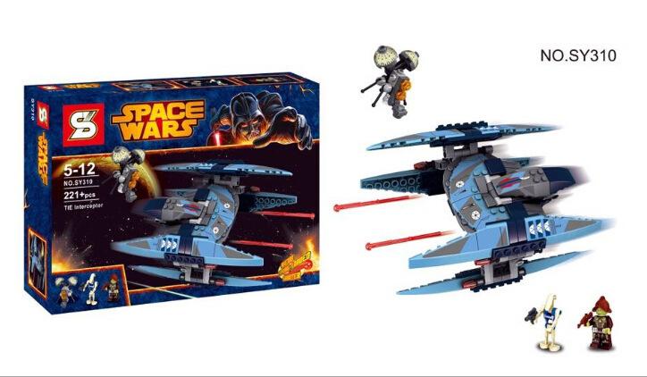 221pcs SY310 STAR WARS Vulture Droid Buzz & Pilot Battle Droid Neimoidian Warrior Minifigure Building Block Compatible with LEGO(China (Mainland))
