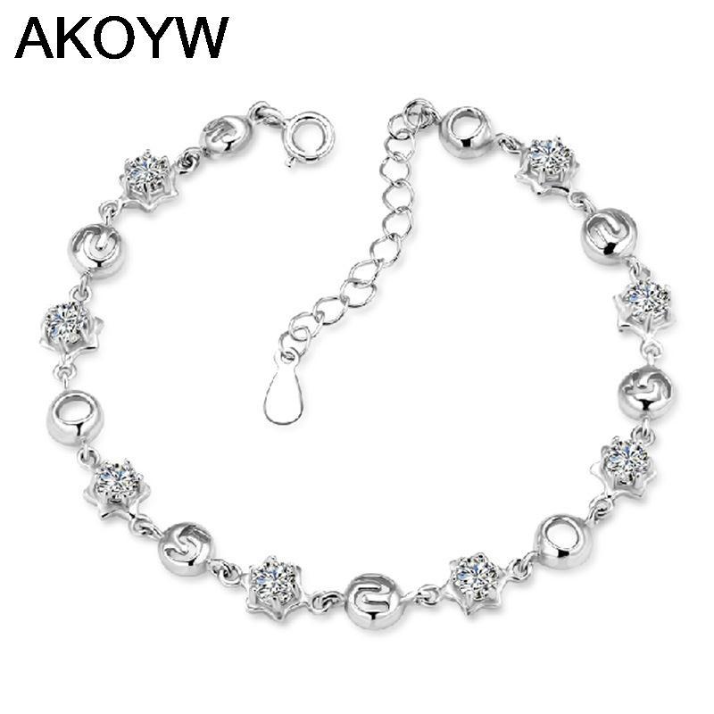 S925 wholesale 520 sterling silver bracelet female models I love you Miss Han Guoban jewelry bracelet jewelry(China (Mainland))