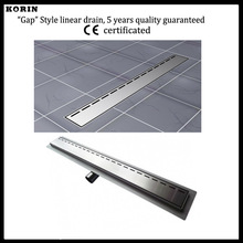 1200mm «Gap»  Style Stainless Steel 304 Linear Shower Drain, Horizontal Drain, Shower Floor Waste, Shower Channel