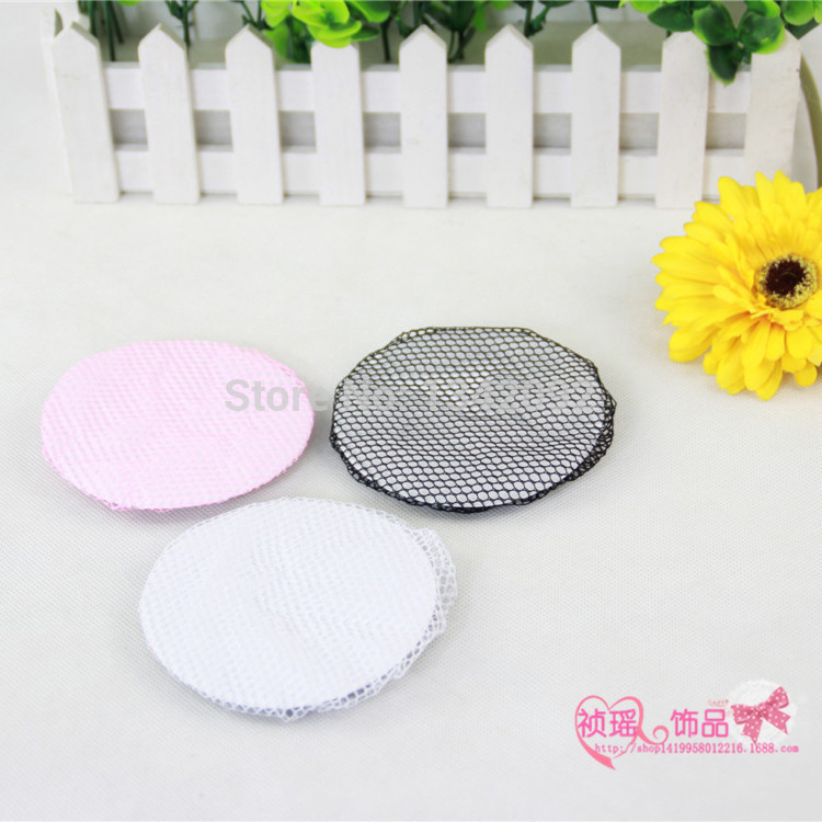 DIY Hairdressing Decoration Ballet Hair Net Bun Cover Snood For Ladies BLACK WHITE PINK(China (Mainland))