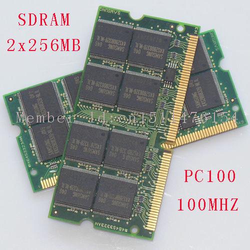 512MB 2x256MB PC100 100MHz SO-DIMM laptop Notebook memory RAM Non-ECC 144pin NEW Free Shipping(China (Mainland))