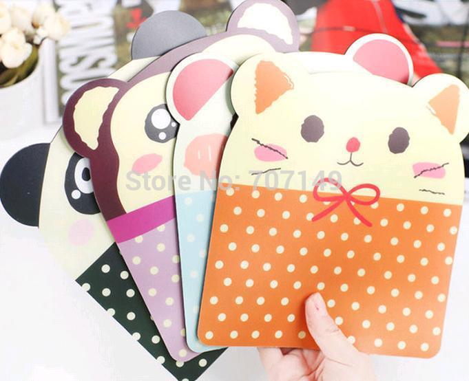 cartoon Kawaii cat panda monkey bear Anti-slip Mouse Pad Colorful Laptop Pc Mice Pads Mat(China (Mainland))