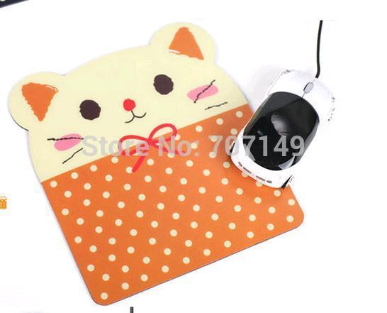 Мультфильм каваи кошка панда обезьяна медведь против скольжения коврик для мыши красочные ноутбука Pc мыши коврики коврик