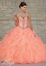На складе Quinceanera платья 2015 бальное платье спагетти оборками из бисера кристаллы дешевые Quinceanera платья свадебные платья 15 Anos D2