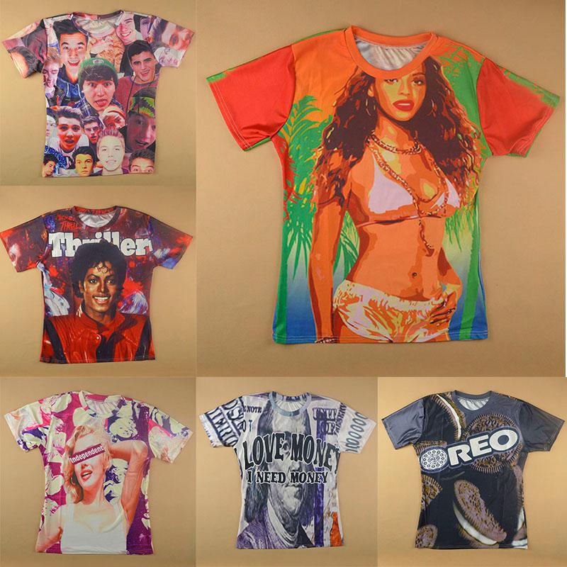 Женская футболка Made in china Harajuku 3D t /Rihanna t женская футболка 2015 harajuku t 3d rihanna t 3d print