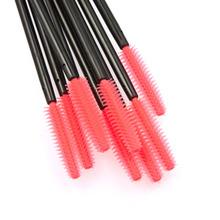 Hot sale 50 pcs One-Off Disposable Eyelash Brush Mascara Applicator Wand makeup Brushes eyes care make up styling tools