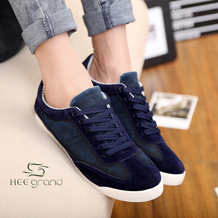 2015 New Arrived Fashion Men Jean Shoes Men Sneakers Flat Lace-UP Shoes XMR655(China (Mainland))