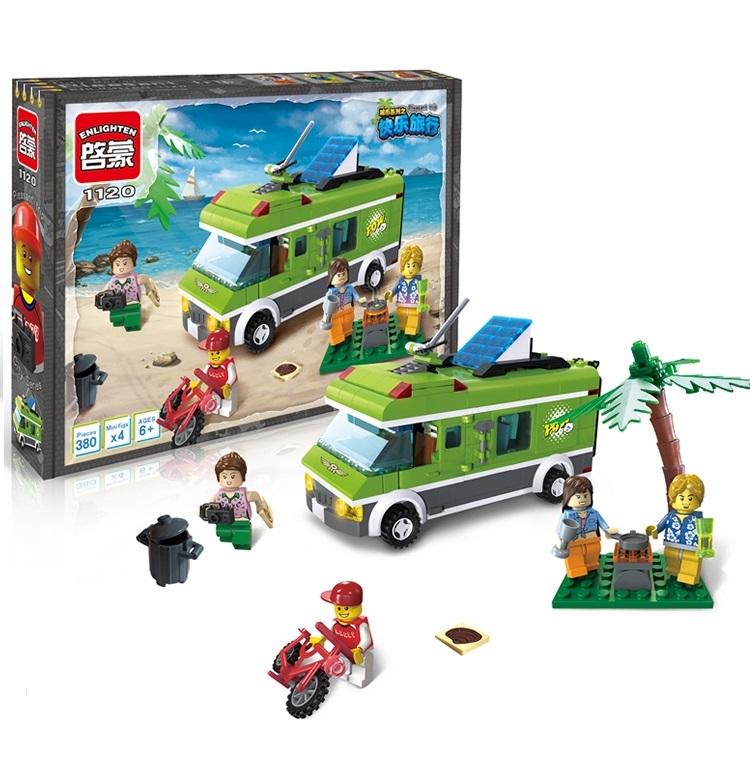 Enlighten city series bus model Building Block Toy Action Figure minifigures brick toys kids educational blocks toy gift(China (Mainland))