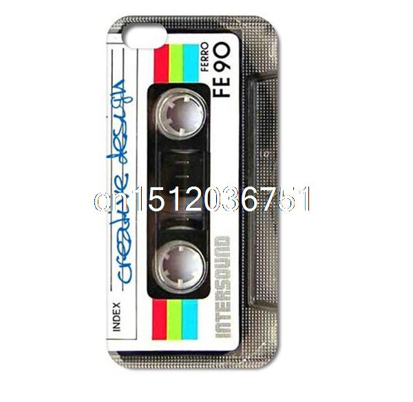 Printed Hot Sale Luxury Cassette Tape Wo Hard Protect Case Skin Cover Shell Fundas Capa For Iphone 4 4S 5 5S 5C 6 4.7(China (Mainland))