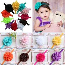 Cute Girl bebé infantil del niño 10 unids venda de la flor del arco del pelo venda de los accesorios(China (Mainland))