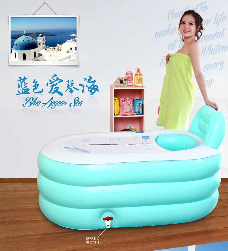 Adulto vasca da bagno gonfiabile secchio secchio piscina secchio bagno ispessimento vasca da ...