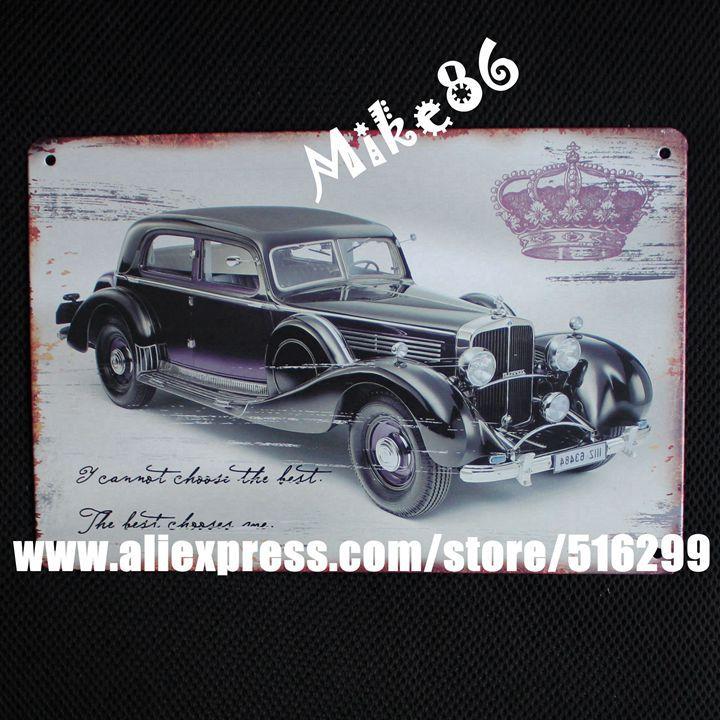 [ Mike86 ] Classic Retro Car Metal Tin Sign Antique Pub Gift Room Craft Home Decor 20*30 CM AA-351(China (Mainland))