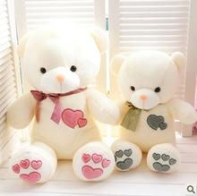 J1 Valentine gift New Cute Teddy Bear Pink Giant Big Cute Plush 100% Cotton Huge Soft Toy Gift(China (Mainland))