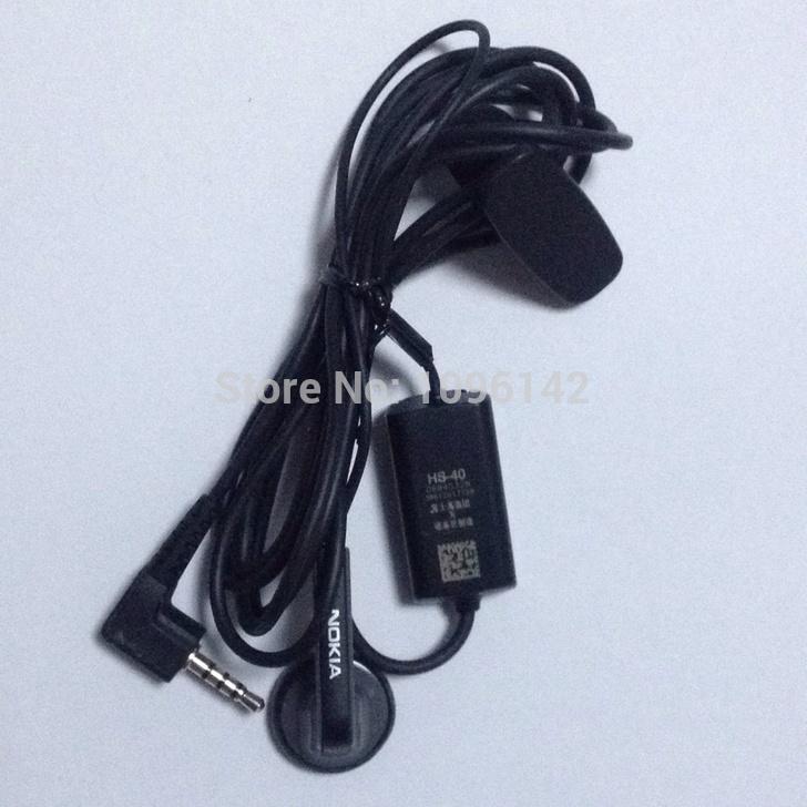 5pcs Original Earphone Headphone Headset HS40 HS-40 for Mobile Phone Nokia 6700s E90 E71 5300 7610s 7310C Free shipping(China (Mainland))