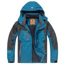 Camel Spring and Autumn Camping Hiking Men Jacket Outdoor jacket Sportswear Hooded Plus Velvet Waterproof Outerwear()