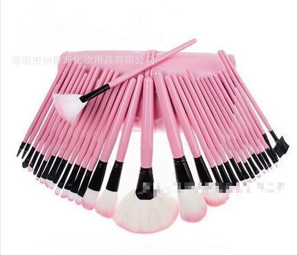Hot 32 Professional Makeup Brush Set 32 Mycoplasma Wood Color Black Pink Makeup Brush Make Up Brush Set Professional(China (Mainland))