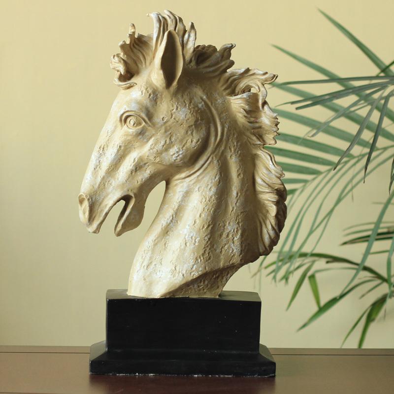 European Renaissance Creative Table Tops Resin Figurines Horse Decoration Living Room Wedding Birthday Gifr Free Shipping(China (Mainland))
