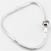 Fashion sterling silver jewelry authentic snake love bracelet fit pandora european charm bracelet bijoux women and men