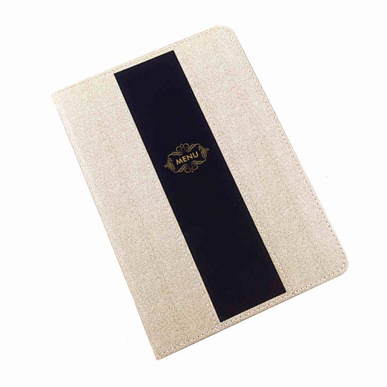 Upscale Restaurant Menu Cover Hotel Recipes Folder Restaurant Menu card Holder A la carte book Wholesale Retail Customized(China (Mainland))