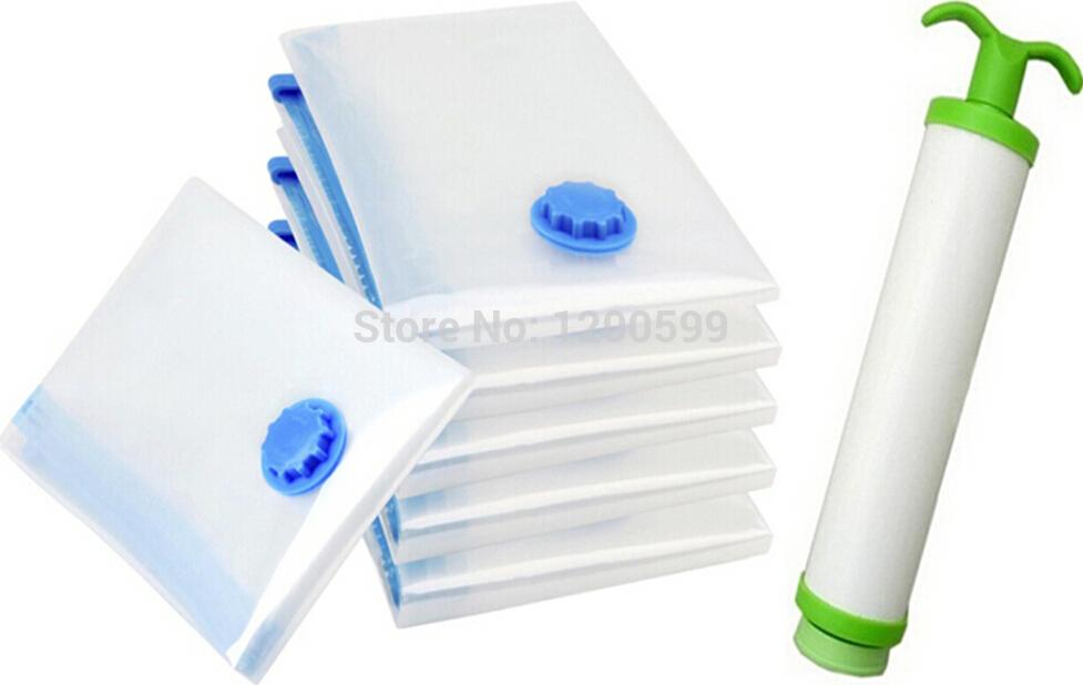 Air Vacuum Pump for 5pcs/lot 40*50 Space Saver Saving Storage Bag Vacuum Seal Compressed Organizer Freeshipping wholesale(China (Mainland))
