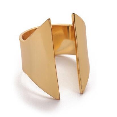 Ювелирные изделия K геометрический с открытая рот позолота кольца для женщины и мужчины