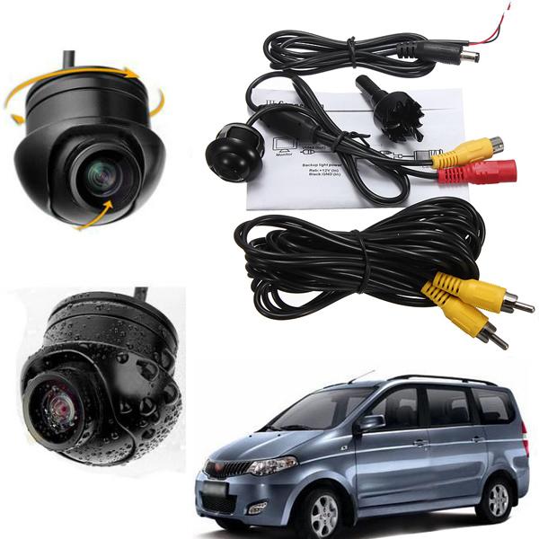 2015 Top Hot Sale Universal DC12 Mini Waterproof 360 Degree Car Rearview Camera Reversing Parking CMOS NTSC TV System Camera(China (Mainland))