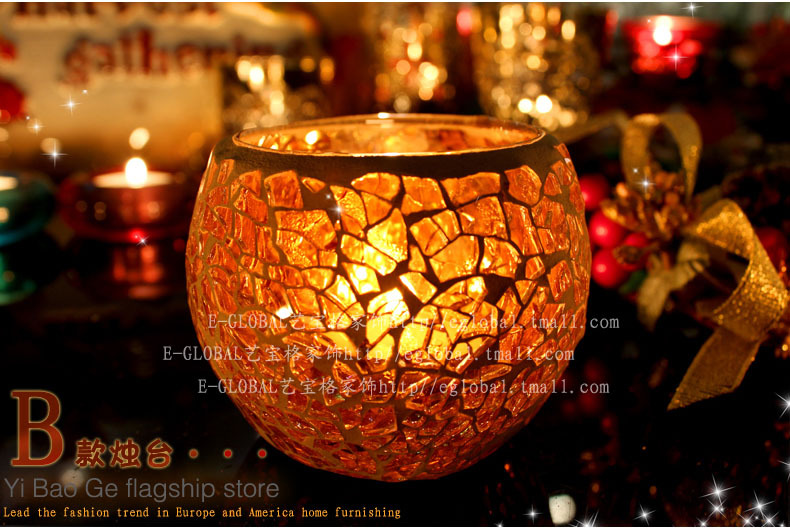 Hot Sale candlestick HoldeHome Decoration Christmas Gift mousse glass candlestick Holder(China (Mainland))