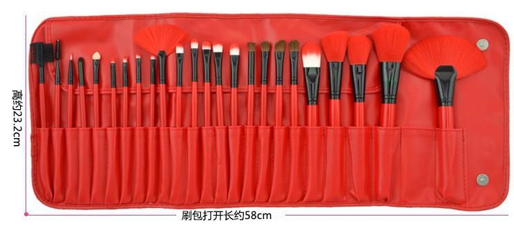 24 Red Makeup Brush Sets