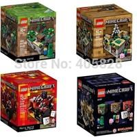 Original Brand Lego Blocks Bricks Educational Classic Toys 21102-21107 Architecture Series Minecraft Micro World 466CS With Box