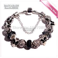 2015 US pop Crystal Red beads fit Pandora bracelet Women Silver Colors beads Bracelets Silver Red